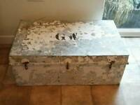 Large Metal Trunk / Storage Chest