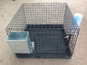 """CAGE FOR SMALL ANIMALS 18.5""""x 18.5""""x 12""""H,tray+feeder+watbottle"""