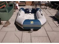 INFLATABLE DINGHY ZODIAC 240 TRANSOM OUTBOARD DINGHY TENDER RIB SIB SAILING FISHING BOAT