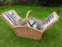 Gorgeous doubled lidded picnic hamper