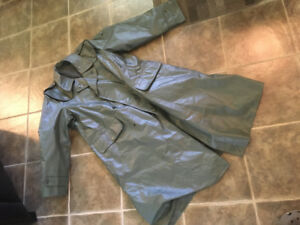 Swedish Military Lined Motorcycle Raincoat - great for HalCon