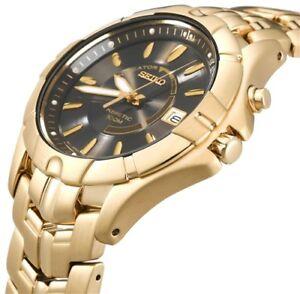 Men's Gold Seiko Kinetic Watch