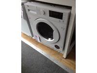 Beko 7kg intergrated washer/dryer. 12 month gtee