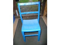 childs chiar - blue - height from floor to seat 34cm overall height 63cm