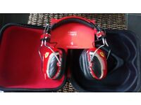 Ferrari F1 pit crew headphones, brand new and with carrycase
