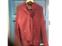 Ted Baker designer smart casual cardigan,burgundy,excellent condition,cost £100,only£5,loc delivery