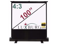 "Luxburg® 100"" 203x152cm 4:3 Portable Freestanding Floor Pull-up Projection Screen - (80""x 60"")"