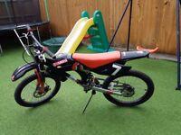 "Boys bike, looks like motorbike, 20""wheels, dual suspension"