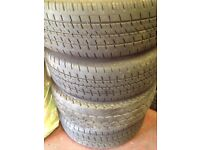 Mark 7 transit wheels and tyres for sale