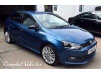 Immaculate 2014 Volkswagen Polo Blue GT 1.4 five door JUST 11000 miles STUNNING LITTLE HOT HATCH !!