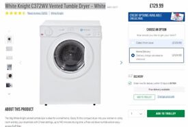 White Knight C372WV Vented Tumble Dryer - White