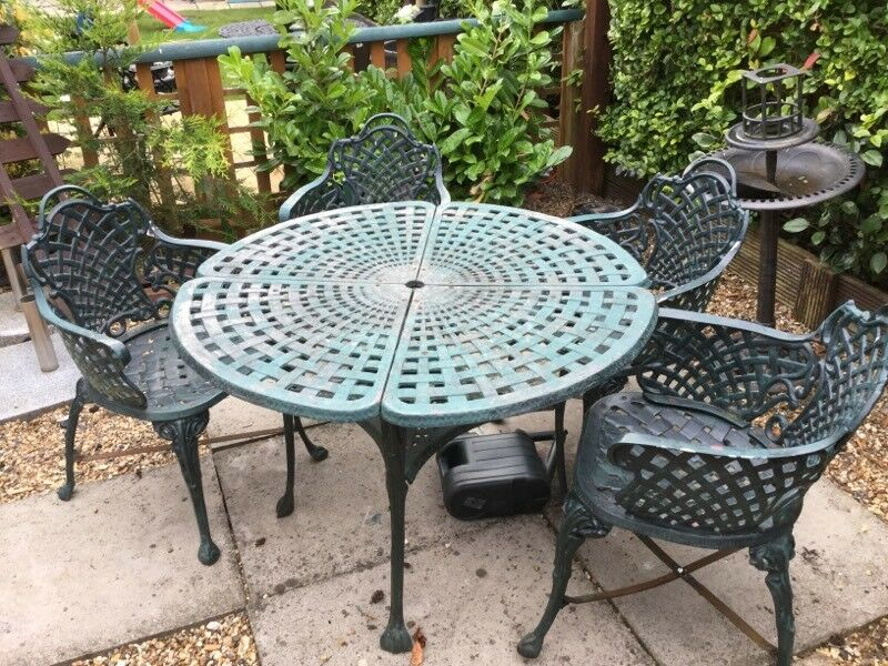 cast iron garden table and chairs - Garden Furniture Kings Lynn
