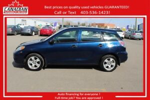 2007 Toyota Matrix No Accidents FINANCING FOR ALL!