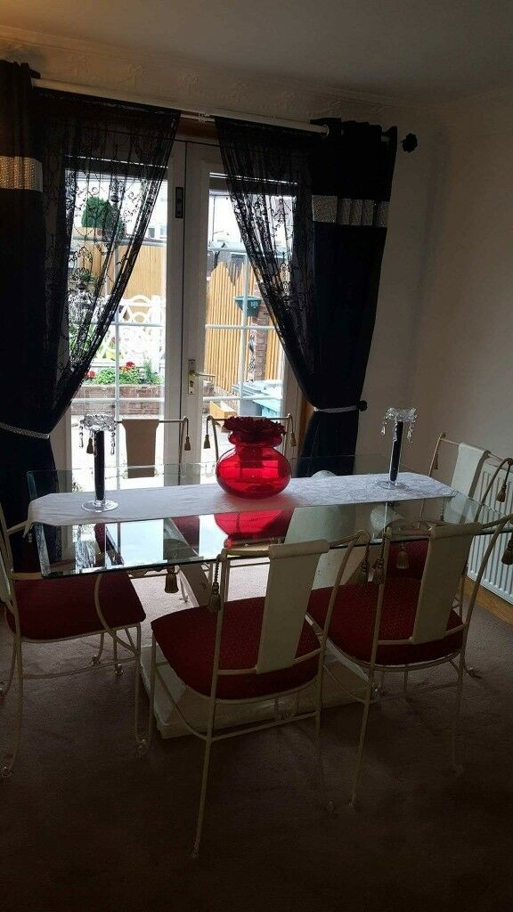 Italian Centre Dining Table And 6 Chairs For Sale