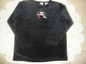 """THE DISNEY STORE """"MINNIE & MICKEY"""" BLACK LONG SLEEVED TOP -"""