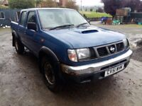 breaking blue 2001 nissan navara td25 4x4 parts spares conversion engine double cab