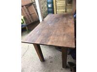 Oak kitchen/garden table