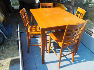 High Table and Chairs