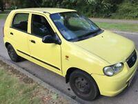 Suzuki Alto GL 1061cc Petrol Automatic 5 door hatchback 05 Plate 03/06/2005 Yellow