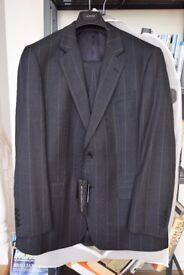 "Man's Jaeger Suit, brand new, never worn. 44"" chest, 38 inch waist, 32"" inside leg"