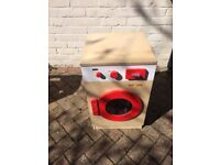 Wooden Washing Machine and Fire Station Role Play Pretend Toys