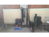 Large selection of coarse fishing equipment for sale
