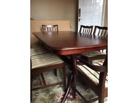 Dining Table Extendable And 6 Chairs Inc 2 Carvers