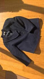 Ladies Stylish Jacket with Asymetric V-shaped Neckline, Long Sleeve, Minimum Iron