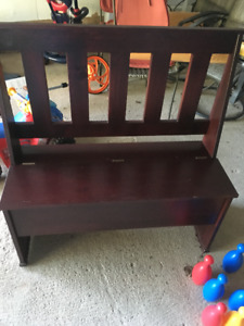Moving Sale! Cherry Wood Bench
