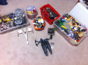 Large Bin of Lego + Random Lego Star Wars Sets