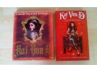 Kat Von D: High voltage Tattoo & The Tattoo Chronicles hardback books