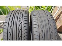 2x nearly new part worn tyres mohawk 245/45/17