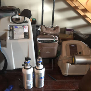 Oxygen concentrator with bottle filler adaption