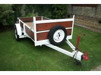 Single Axle Trailer with brakes - Bed 4ft x 7.3ft