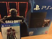 Ps4 boxed 500gb with bloodborne game and controller