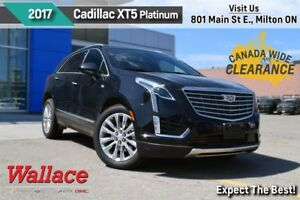 2017 Cadillac XT5 PLATINUM/LOADED!/AWD/MOONROOF/HTD&CLD SEATS/LT
