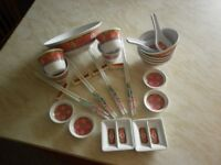 Chinese Melamine Dinner Set and two chinese sandwich boxes