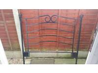 Black cast iron double head board - collection from tiptree