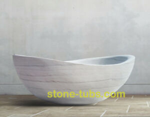 marble bathtub hand carved from one piece solid stone block
