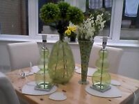 matching next lamps and vases