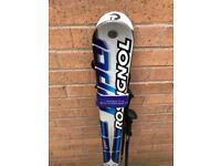 2 sets of ski boots - matching ski bag, Rossignol ski's and Head ski poles