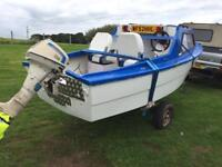 Fishing boat. 13ft Honda 7.5. Four stroke engine px swap