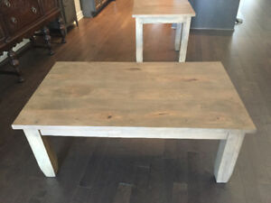 *BRAND NEW Wicker Emporium Coffee Table & End - Light grey brown