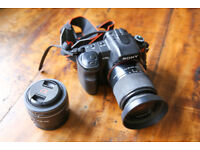Sony Alpha 200 DSLR + 18-70mm lens + 55-200mm lens + 50mm lens + 4gb Card – Perfect condition