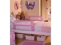 Lindam Safe & Secure Soft Folding Bed Rail Guard Pink Girls