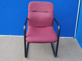 Set of 10 meeting chairs with red fabric (Delivery)