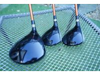 PING G10 Driver, 3 and 5 woods regular shaft