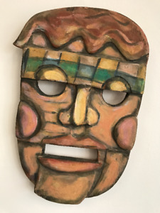 Painting by Conrad Furey Canadian Artist Mask Carving