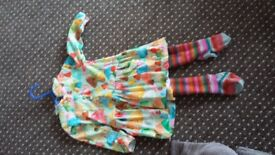 Age 2 girls Oilily dress & matching tights