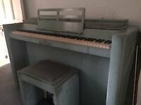 Free Evestaff piano colour green with original seat